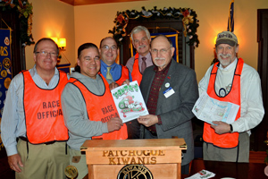 Pictured, front center, are Race Director Nick Harding and club President Walter Ladick. They are joined, left to right, by committee members Jeff Vollmuth, Ed Hughes, Mike Wisniewski and Tom Keegan.