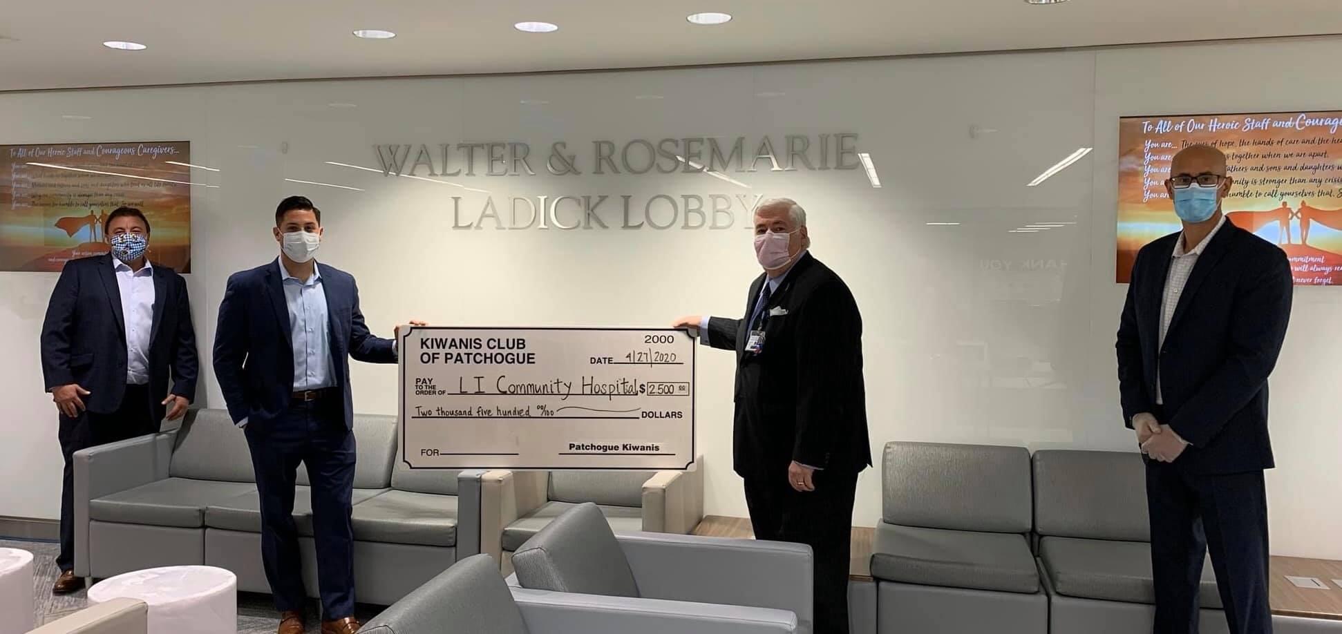 L I Community Hospital Donation